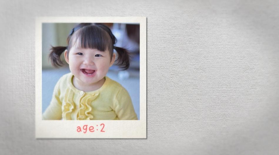 年齢表示のサンプル|新郎・新婦の生い立ち